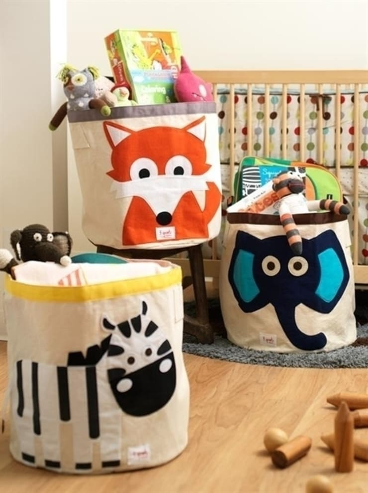 Kolorowe pojemniki na zabawki od 3 Sprouts: styl , w kategorii  zaprojektowany przez Sklep Internetowy Kiddyfave.pl,Skandynawski
