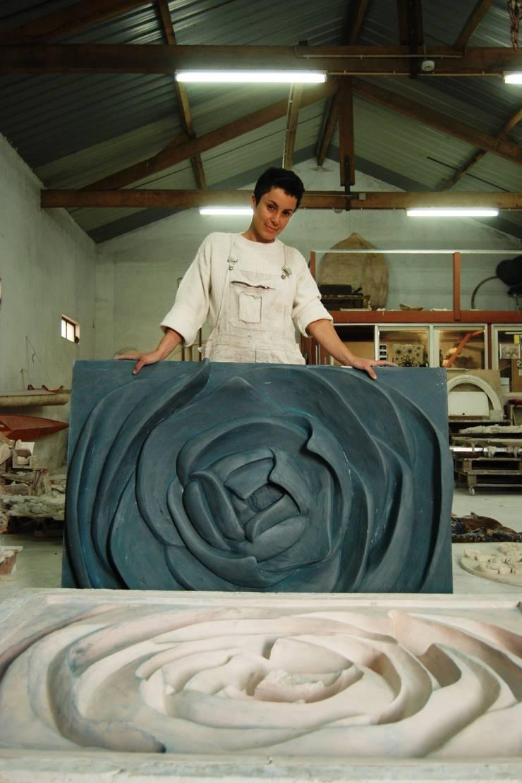 Painel FLor: Museus  por Iva Viana Atelier de Escultura