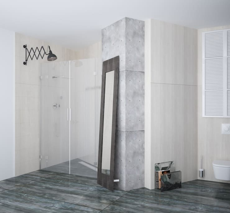 Loft: Ванные комнаты в . Автор – APRIL DESIGN