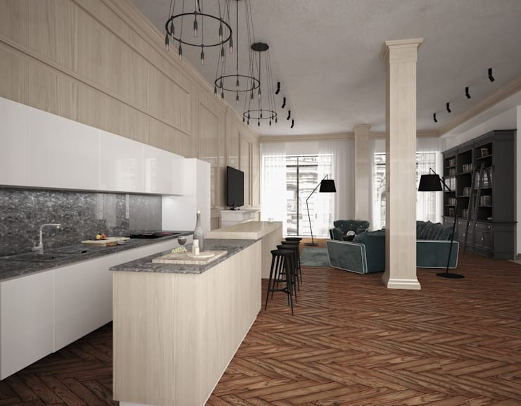 Penthouse in St. Petersburg.: Кухни в . Автор – APRIL DESIGN