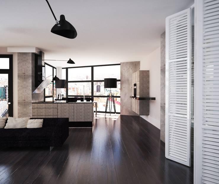Loft: Кухни в . Автор – APRIL DESIGN