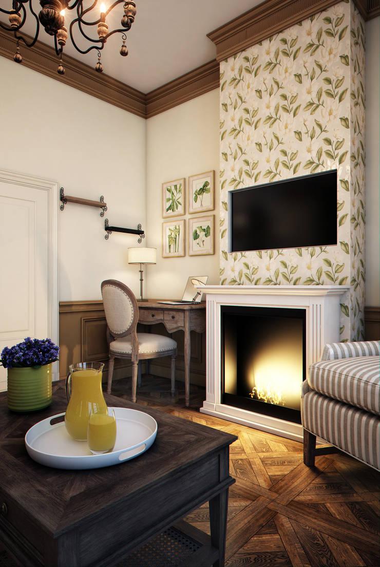 Phòng khách phong cách chiết trung bởi Marina Sarkisyan Chiết trung