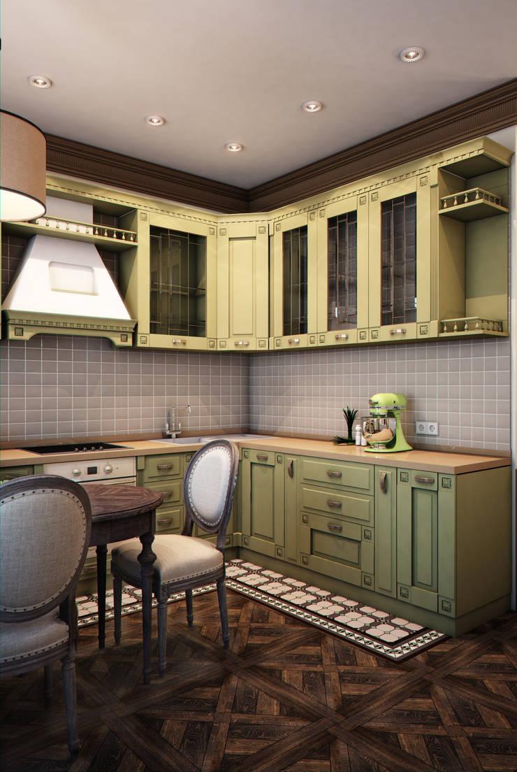 Nhà bếp phong cách chiết trung bởi Marina Sarkisyan Chiết trung
