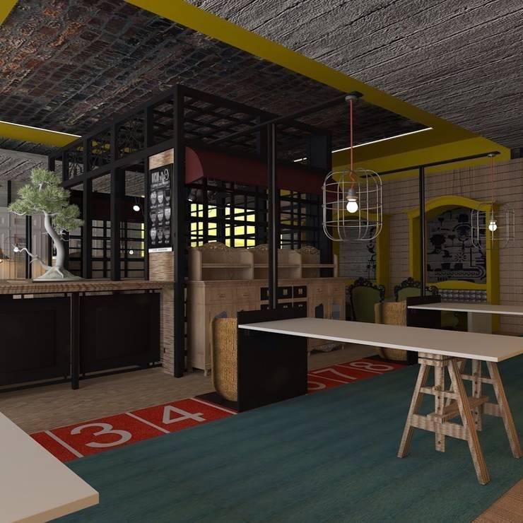 モダンなレストラン の Marttasarım iç mimarlık proje uygulama モダン