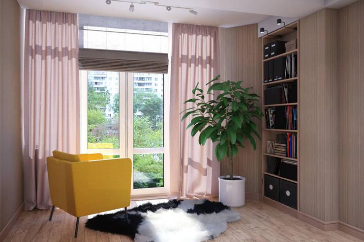 Современный стиль в интерьере : Гостиная в . Автор – Студия дизайна Interior Design IDEAS