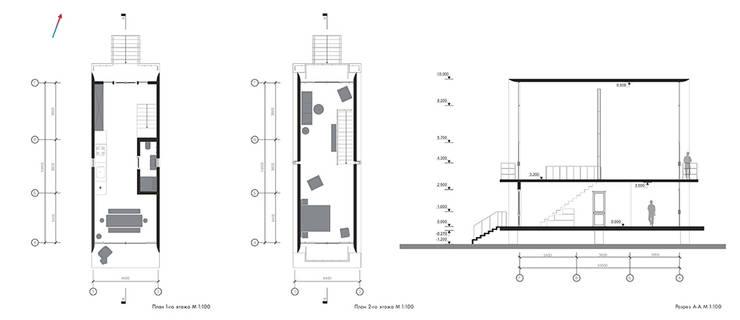 Планы, Разрезы:  в . Автор – much_space