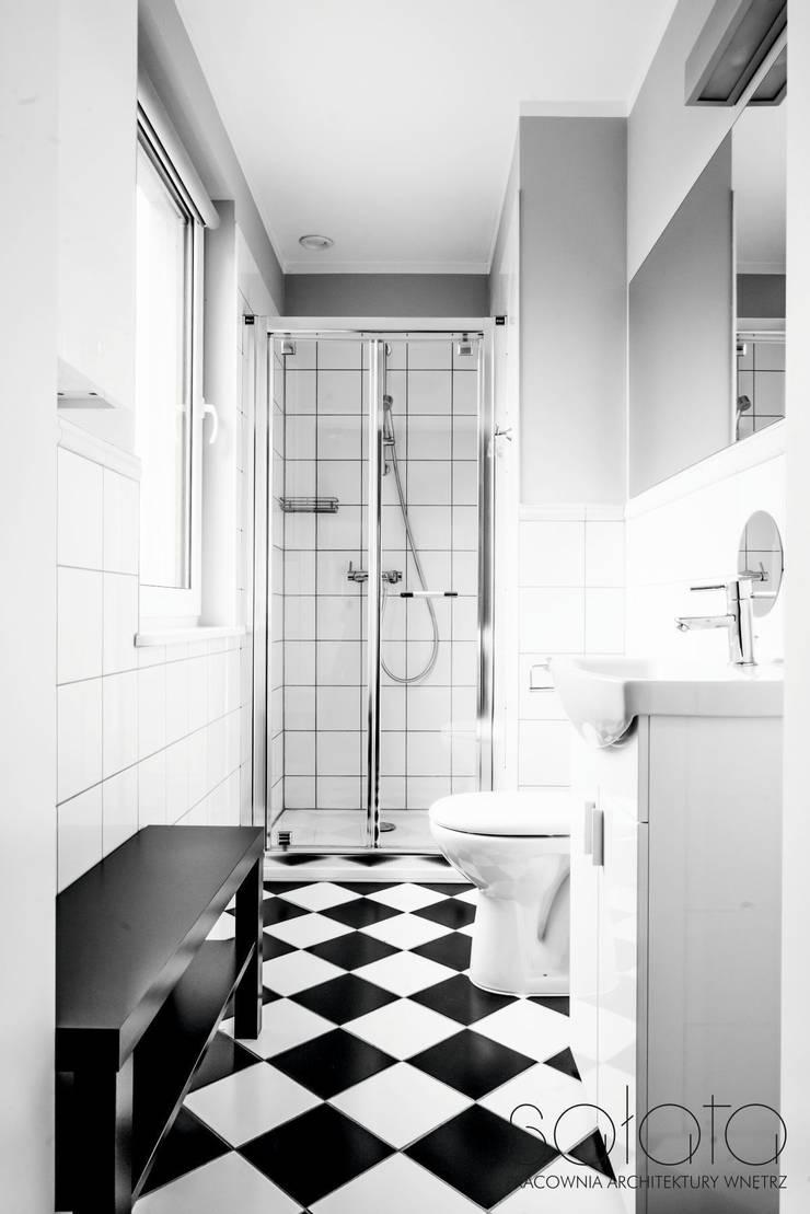 Dom jednorodzinny, Maszewo.: styl , w kategorii Łazienka zaprojektowany przez Sałata-Pracownia Architektury Wnętrz