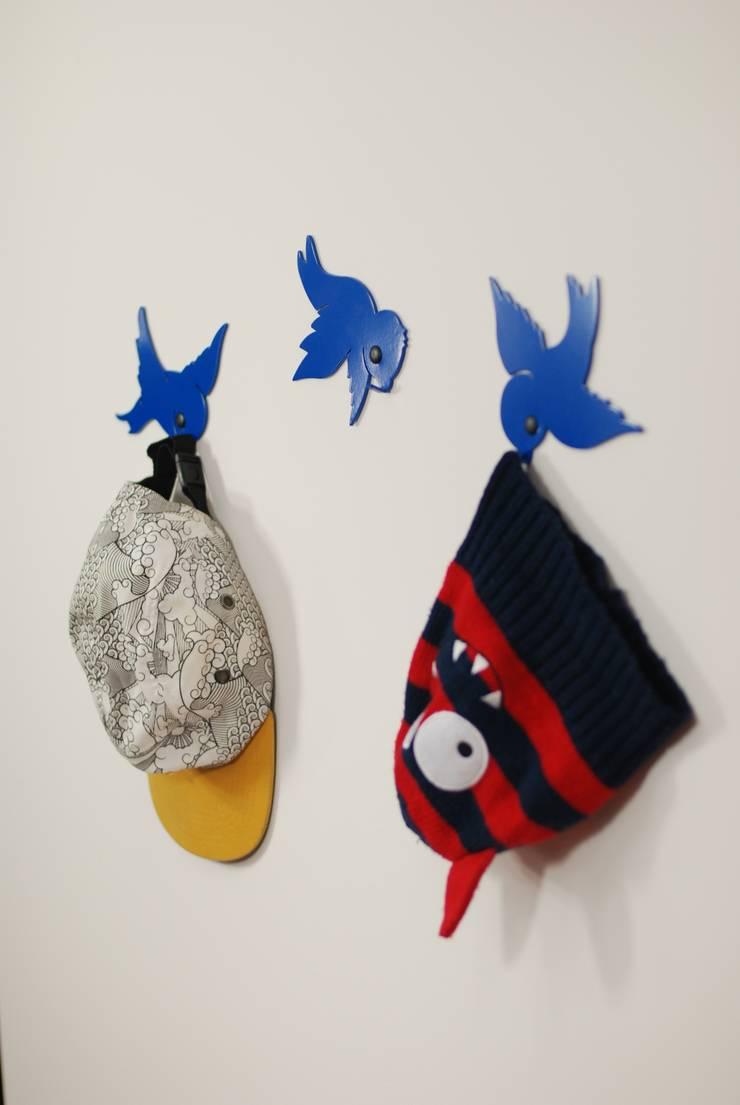 Wieszak Ptaki 1: styl , w kategorii Pokój dziecięcy zaprojektowany przez Longart