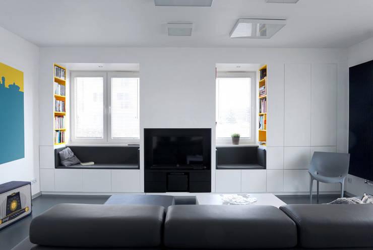 Mieszkanie Bażantowo: styl , w kategorii Salon zaprojektowany przez musk collective design,Minimalistyczny