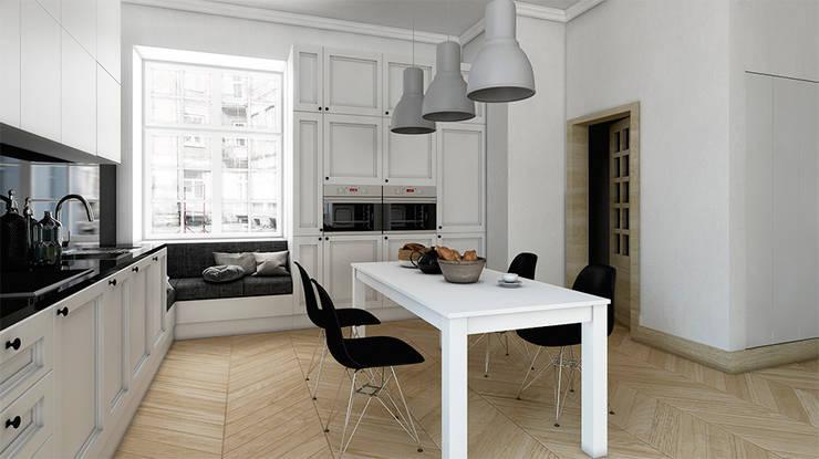 Mieszkanie, Katowice, Wita Stwosza: styl , w kategorii Kuchnia zaprojektowany przez musk collective design,Minimalistyczny
