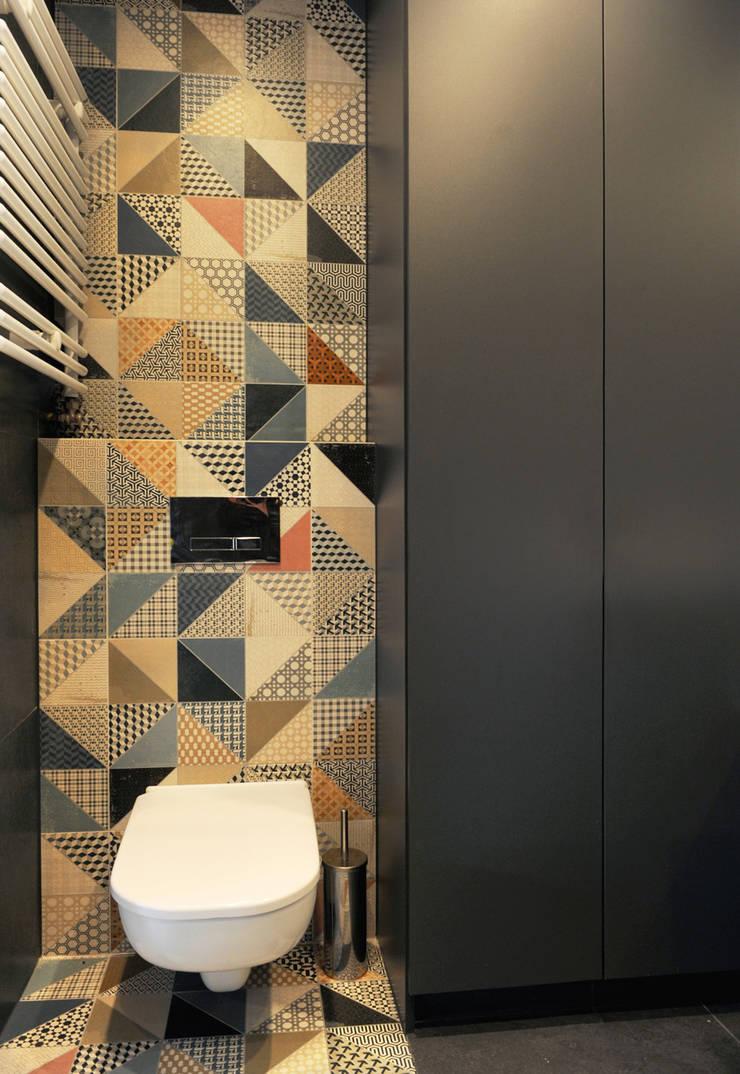 Mieszkanie Bażantowo: styl , w kategorii Łazienka zaprojektowany przez musk collective design,Minimalistyczny
