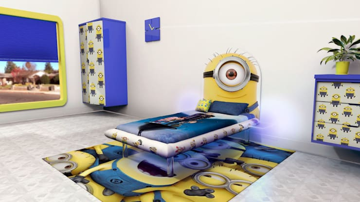 Minion MESO:  Bedroom by Levitas Design