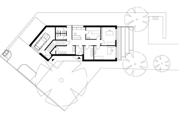 Grundriss Erdgeschoss:   von KITZMANN ARCHITEKTEN