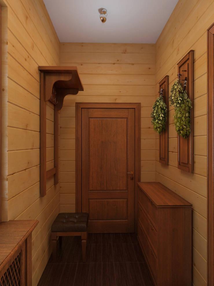 прихожая в бане: Коридор и прихожая в . Автор – ArtBuro365,