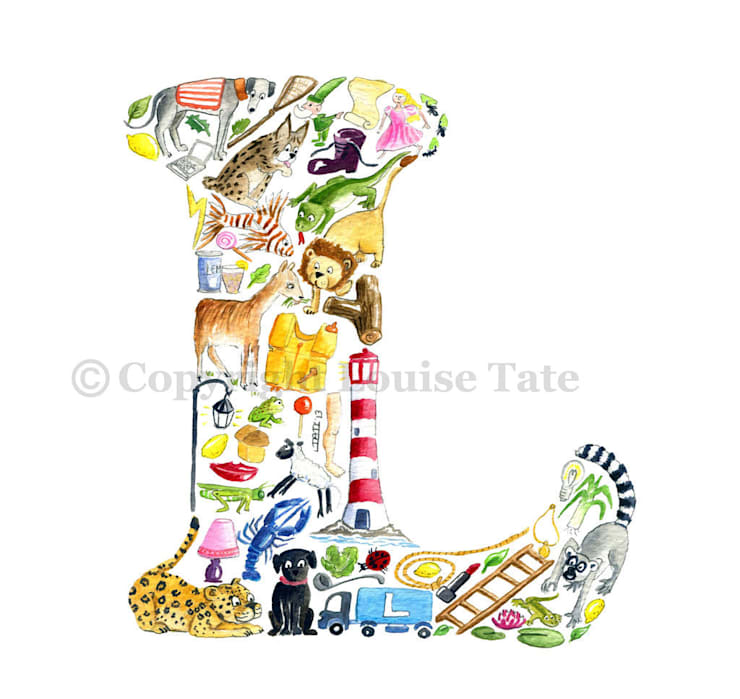 Louise Tate Alphabet Art Letter L: modern  by Anthea's Home Store, Modern