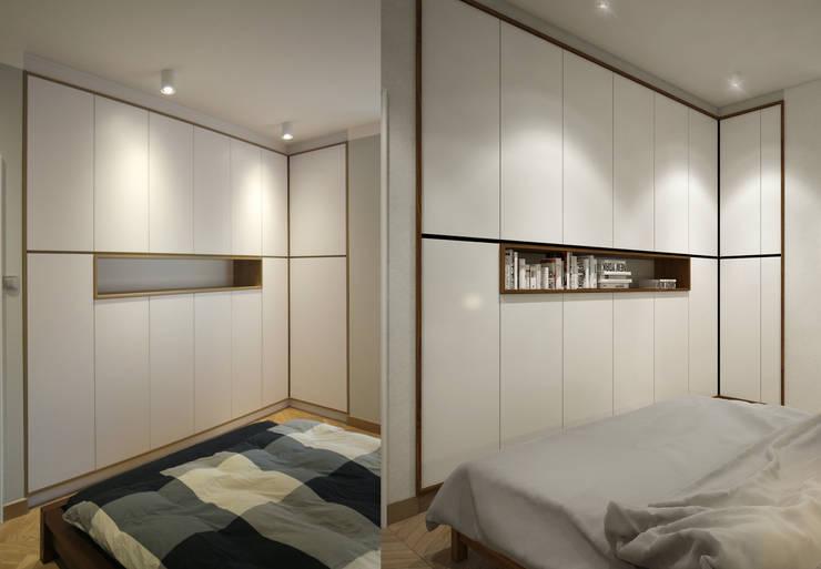 REALIZACJE VS. WIZUALIZACJA PROJEKTU: styl , w kategorii Sypialnia zaprojektowany przez AvoCADo