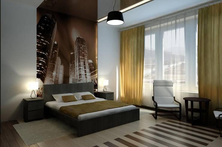 Dormitorios de estilo  por Дизайн студия 'Exmod' Павел Цунев
