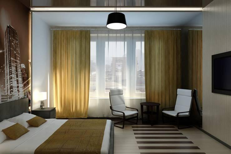 غرفة نوم تنفيذ Дизайн студия 'Exmod' Павел Цунев