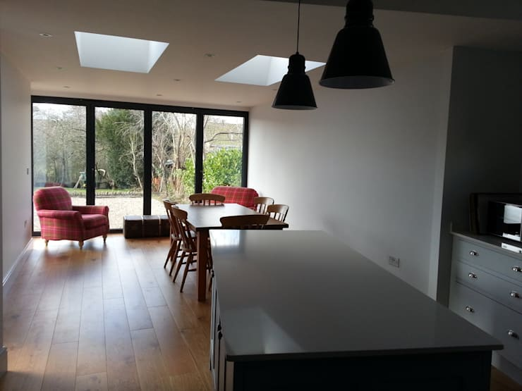 Chilcompton—house extension and remodelling:  Kitchen by Fit Architects, Modern