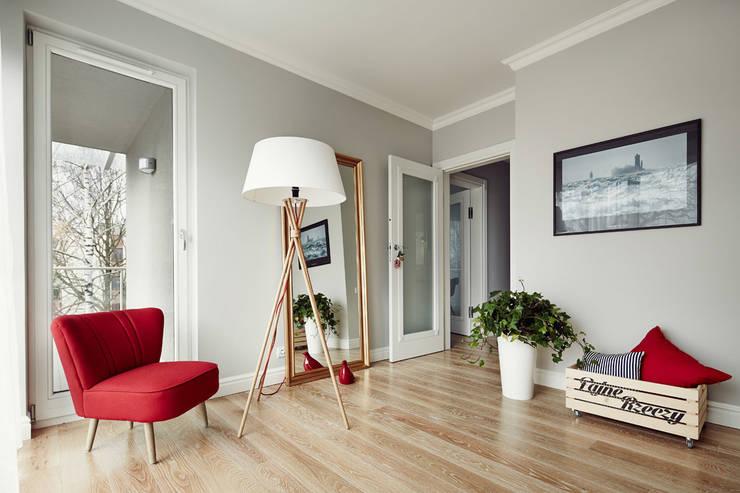 Apartament w Krakowie - sypialnia: styl , w kategorii Sypialnia zaprojektowany przez AvoCADo