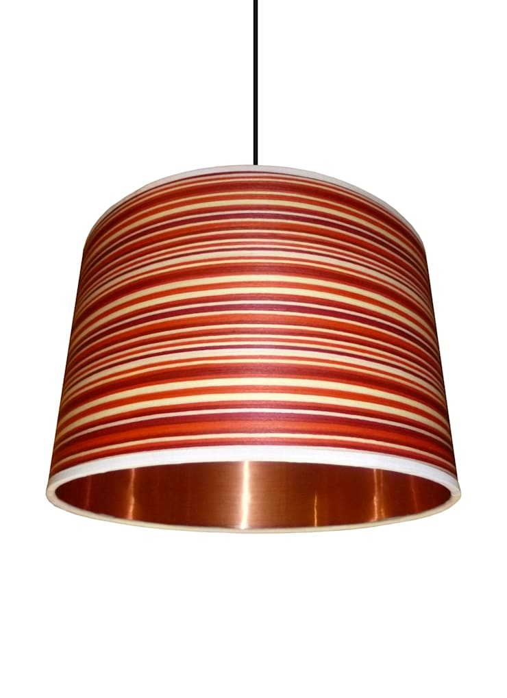 Copper and Candy Drum Lampshade: classic  by Anthea's Home Store, Classic