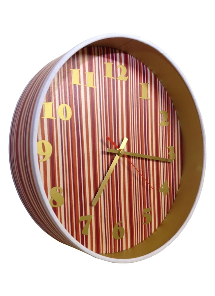 Copper and Candy Veneer Clock: classic  by Anthea's Home Store, Classic