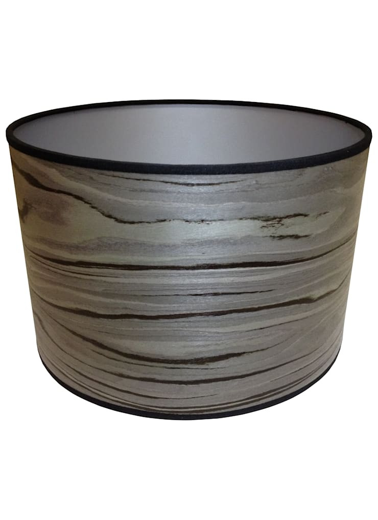 Designer Grey Drum Lampshade: classic  by Anthea's Home Store, Classic