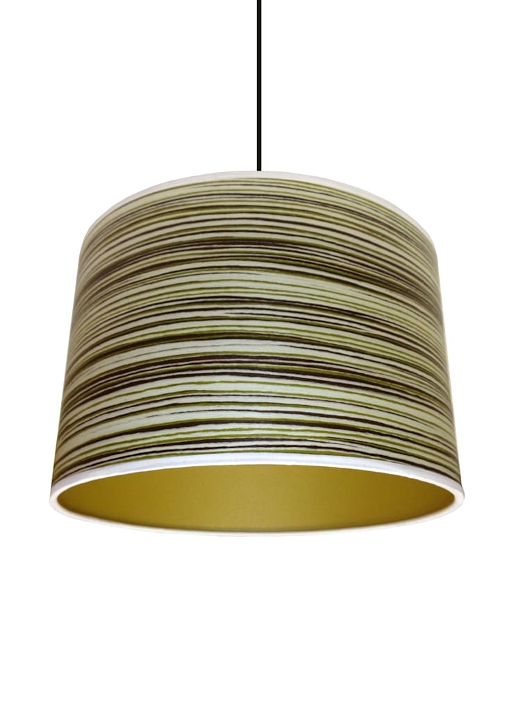 Green Stripe Drum Lampshade: classic  by Anthea's Home Store, Classic