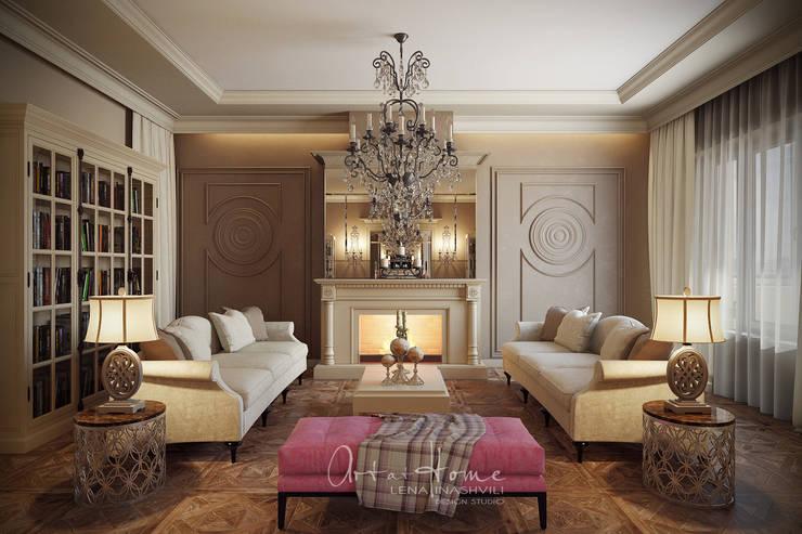 Таун-хаус на Новой Риге: Гостиная в . Автор –   Лена Инашвили  Art at Home
