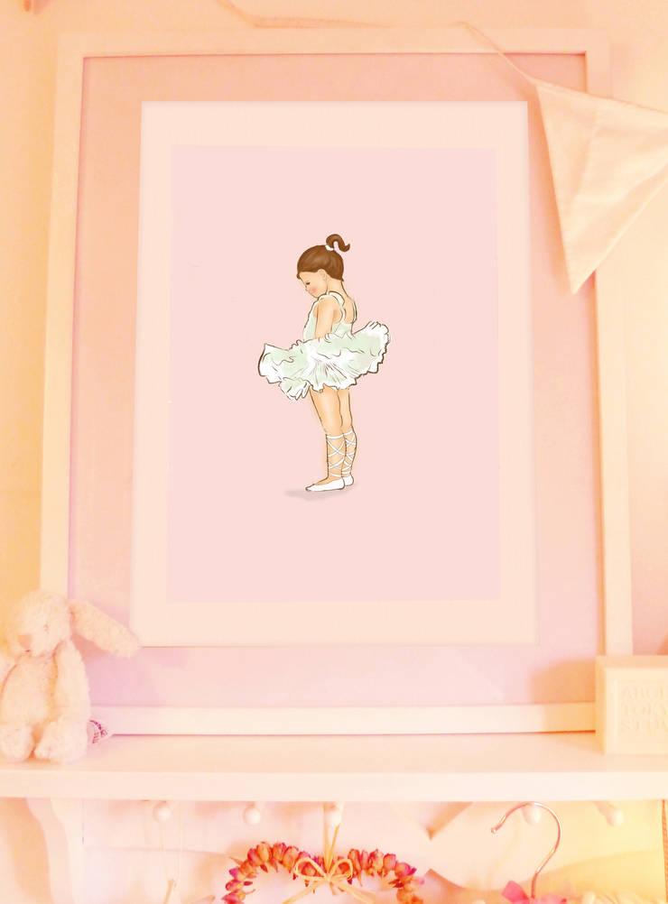 Ballerina Art print for a little girl: classic  by Buffer , Classic
