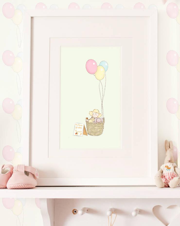 Balloon Ride art print for baby's nusery : scandinavian  by Buffer , Scandinavian