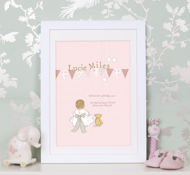Christening art work print: country  by Buffer , Country