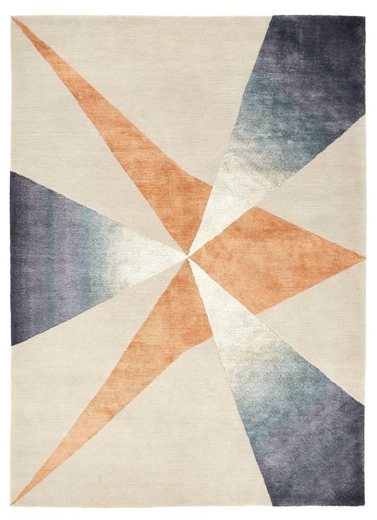 Deirdre Dyson PINNACLE hand knotted wool and silk rug:  Walls by Deirdre Dyson LLP, Modern