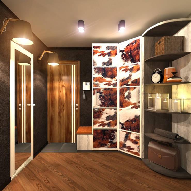 Прихожая 1: Коридор и прихожая в . Автор – Inna Katyrina & 'A-LITTLE-GREEN' studio interiors
