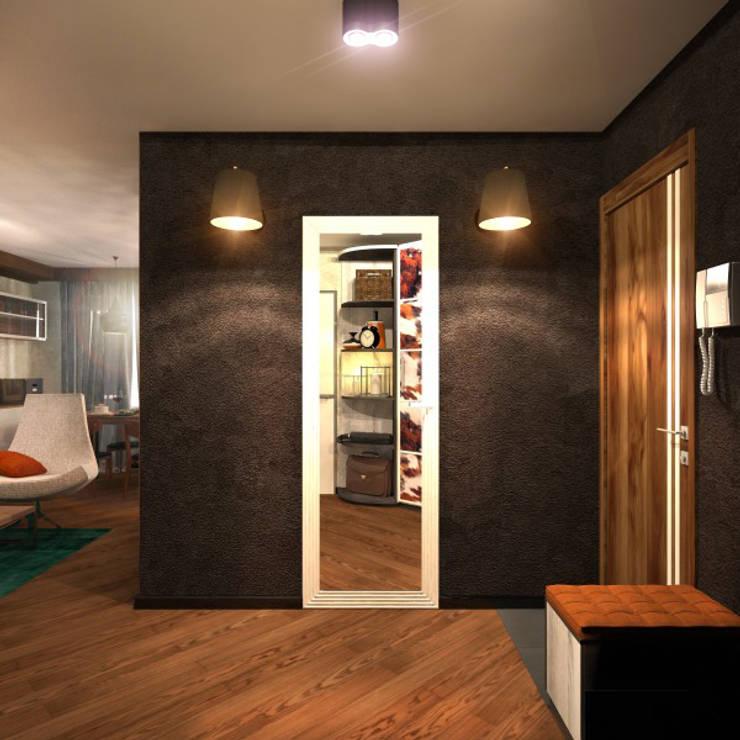 Прихожая 3: Коридор и прихожая в . Автор – Inna Katyrina & 'A-LITTLE-GREEN' studio interiors