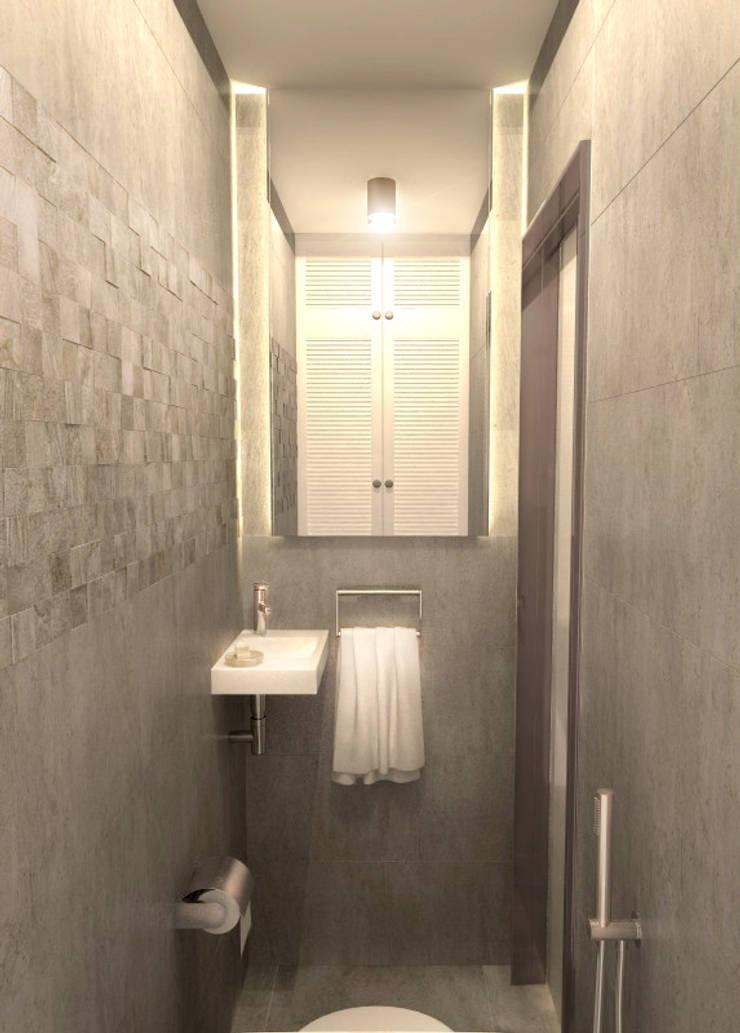 Туалет 1: Ванные комнаты в . Автор – Inna Katyrina & 'A-LITTLE-GREEN' studio interiors