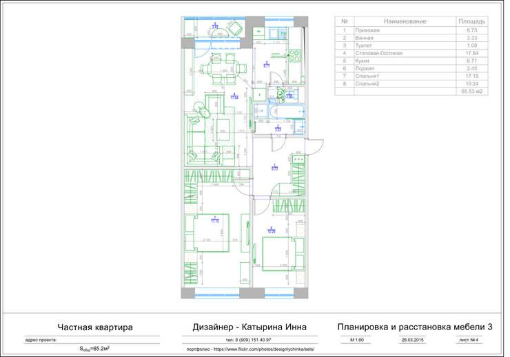 Планировка и расстановка мебели:  в . Автор – Inna Katyrina & 'A-LITTLE-GREEN' studio interiors
