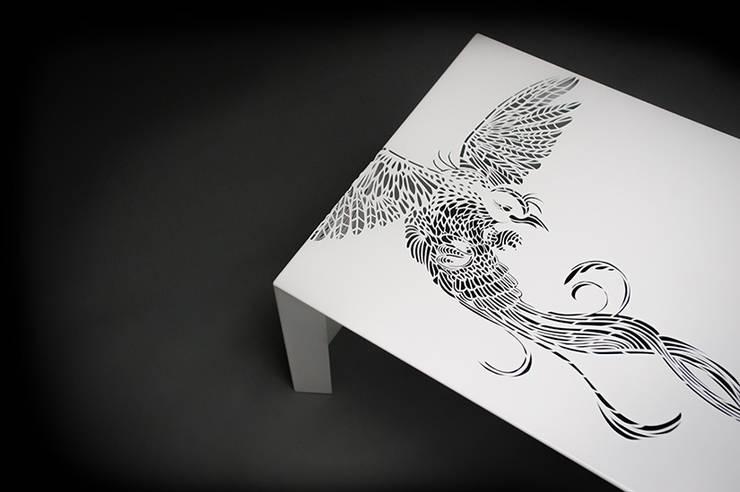 Paradise Table • Salontafel • White - • coffee table :  Woonkamer door ontwerpstudio Roi de Bruijn