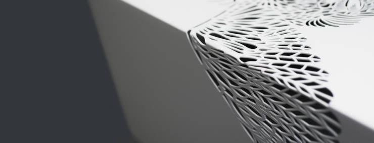 Paradise Table • Salontafel • Wit [detail] - • coffee table [detail]:  Woonkamer door ontwerpstudio Roi de Bruijn