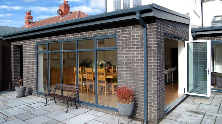 Extension to rear, Sun Room, Kitchen and Living Room:  Garden by Grant Erskine Architects, Modern