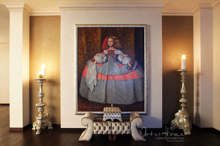 <q> Nostalgia Museo del Prado </q>  Квартира в Москве: Гостиная в . Автор –   Лена Инашвили  Art at Home