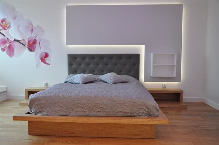 sypialnia prywatna: styl , w kategorii Sypialnia zaprojektowany przez Tarna Design Studio
