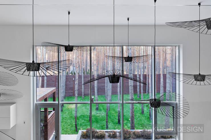 Гостиная в . Автор – Yakusha Design, Минимализм
