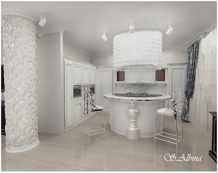 Дизайн -проект квартиры,  по улице Касаткина: Кухни в . Автор – студия авторского дизайна  Альбины Сибагатулиной