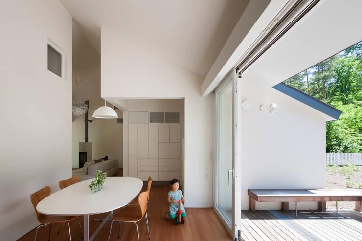 modern Dining room by 株式会社 直井建築設計事務所