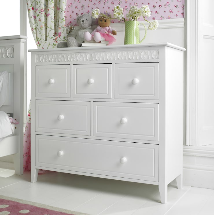 Florence Flutterby Combination Chest:  Nursery/kid's room by Little Lucy Willow
