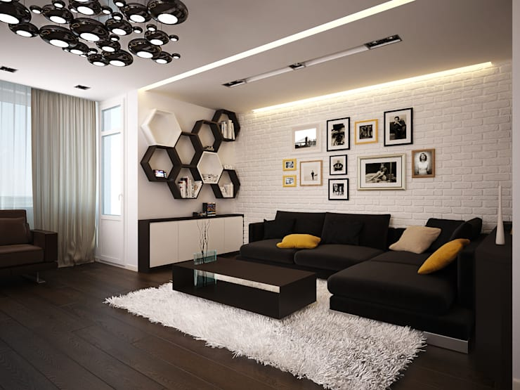 Living room by Polovets design studio