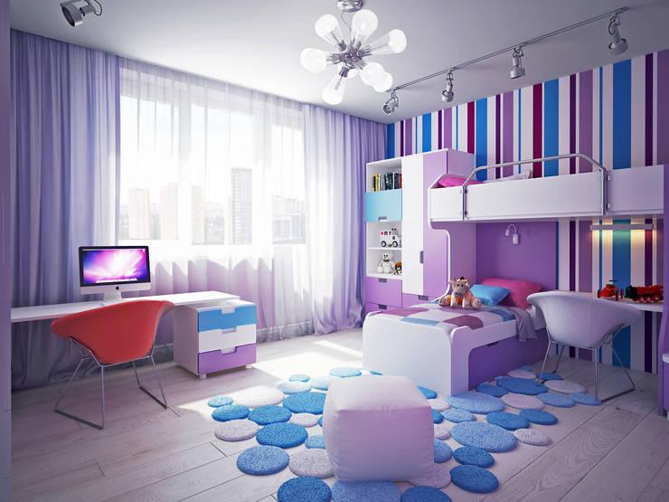 Детские комнаты в . Автор – Polovets design studio
