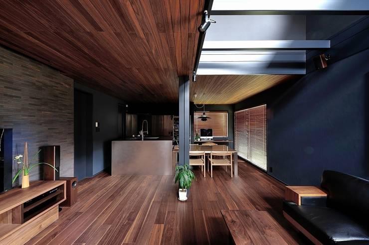 リビング&ダイニングキッチン: アトリエセッテン一級建築士事務所が手掛けたリビングです。