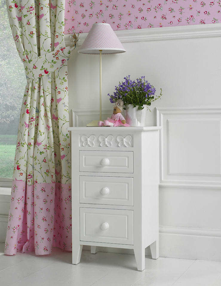 Florence Flutterby Bedside Table:  Nursery/kid's room by Little Lucy Willow